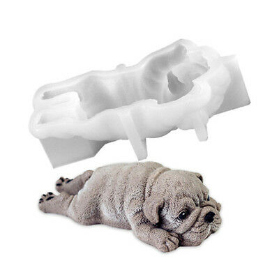 3D Dog Silicone Mould Cookie Fondant Baking Cake Decoration Mold Tools 8C