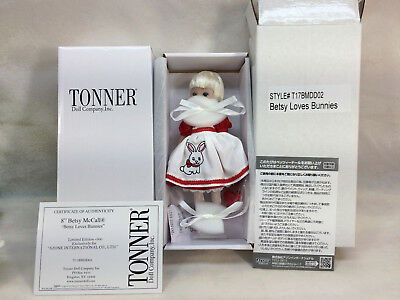 """2017 New Tonner 8"""" Tiny Betsy Mccall Doll Le 300 Japanese Exc Loves Bunnies Nrfb"""