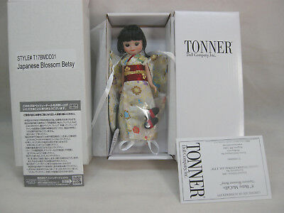 """2017 Tonner 8"""" Tiny Betsy Mccall Doll Le 300 Japanese Blossom Betsy Exclusive"""