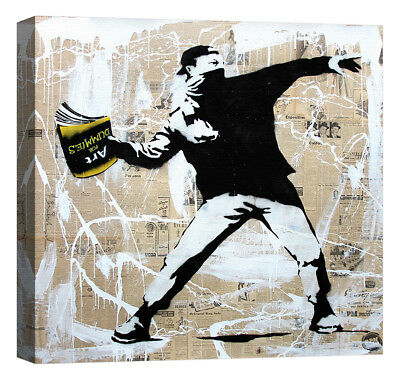 Stampa su Tela Vernice Effetto Pennellate BANKSY Great Eastern Street