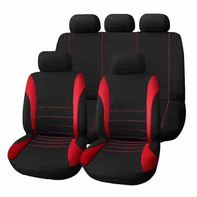 9pcs Universal Car Seat Cover Dustproof Seat Protectors Full Seat Covers Red AU