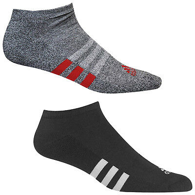 Adidas Mens No Show Golf Socks Ankle Single Low Cut Sport Stripe Soft Cushioned