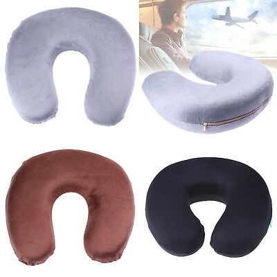 Travel Pillow Neck Support Memory Foam U Shaped Head Airplane Car Rest Cushion