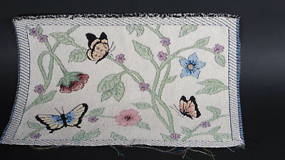 Spring Butterfly Unfinished Tapestry Craft Fabric Place Mat, Table cover, Pillow
