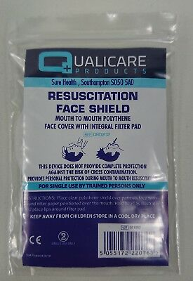 CPR Resuscitation Face Shield Mask Mouth to Mouth First Aid Paramedic Ambulance