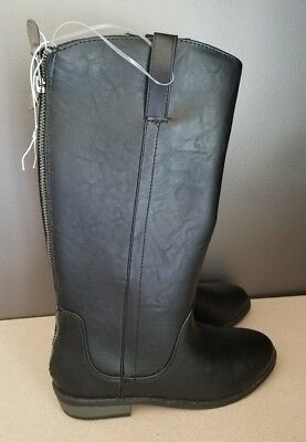 Cat & Jack Youth Girls Haven Riding Boot Black Size 5,6