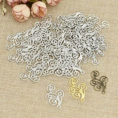 Metal Flowers Slice Filigree Hollow Out Jewelry Accessories DIY Component 1 Set