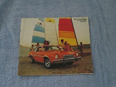 1977 FORD PINTO Original Color Showroom Car Sales Brochure. Auto; 12 Pages