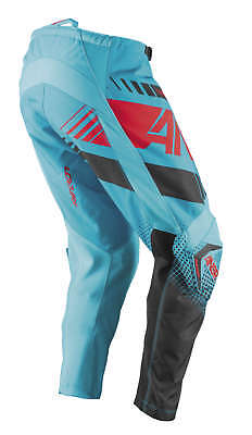Answer A17 Youth Kids Syncron Cyan Blue Red MX Motocross Offroad Riding Pants