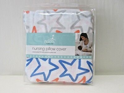 Aden Anais Nursing Pillow Cover 100% Cotton Muslin Small Fry Stars Baby Infant