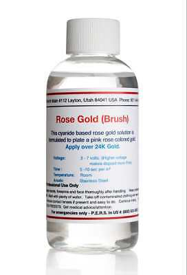 Rose Gold Plating Solution (4 oz) Electro Plating Solution (Brush)