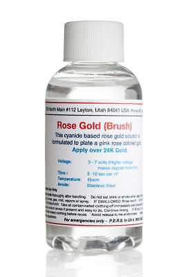 Rose Gold Plating Solution (2 oz) Electro Plating Solution (Brush)