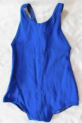 Meridian girls blue swimming costume vintage 1960s school uniform sports kit 28""