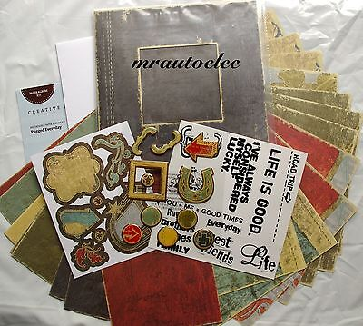 Creative Memories 6.5x6.5 Rugged Everyday Paper Album Kit - Recordable Message
