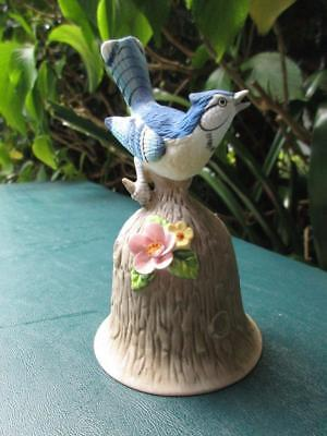 Towle Fine Bone China Collectible Bell Blue Jay 4 ¾ Inches Tall