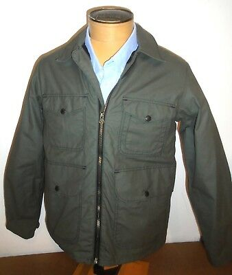 Filson Dark Green 100% Cotton Bell Bomber Jacket NWT Small $325 Made in USA