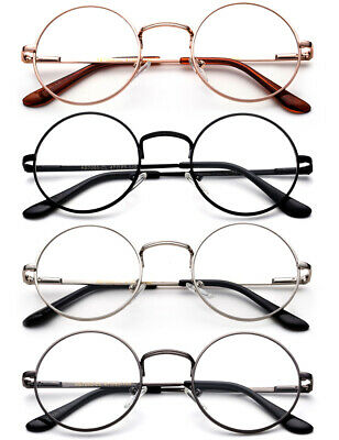 dcccea98b3 Classic Reading Glasses Aviator Retro Round Spring Hindge Stainless Steel  Frame