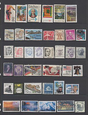 USA - 38 used stamps  ( Lot 110 )
