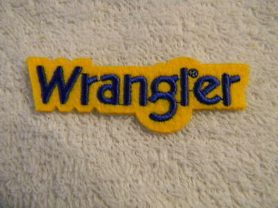 Wrangler- jeans-patch-adhesive backing,fabric/ felt,emroidered stitching-NEW-HTF