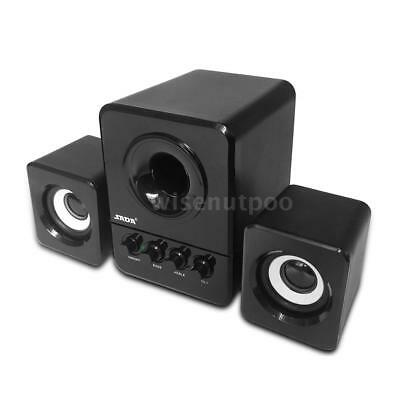 Wired USB Computer Speakers Bass Stereo Subwoofer Sound Music For Laptop PC L4O0