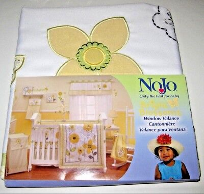 NEW Adorable~NoJo Bright Blossoms NURSERY Garden Floral Butterfly~Window Valance
