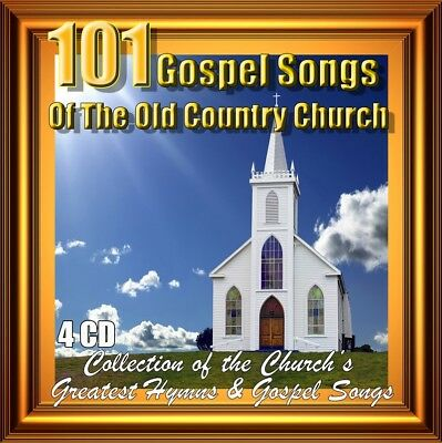 100 HYMNS OF the Old Country Church, 4 CDs Greatest's Hymns & Gospel