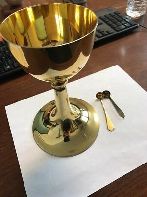 Sterling Chalice and Scruple Spoons