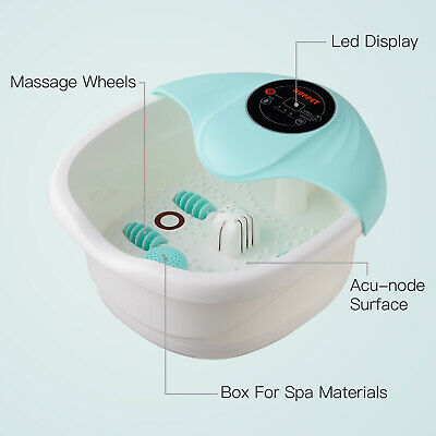 Portable Foot Spa Bath Massager Tem/Time Control Bubble Heat Infrared Relax