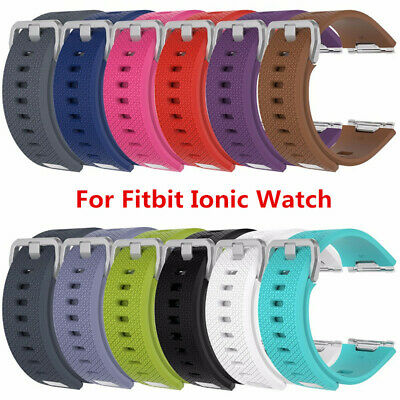 Replacement Silicone Wristband Sport Watch Band Strap For Fitbit Ionic Watch