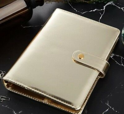 A5 Binder Planner 6 Ring Personal Organizer Champagne Gold