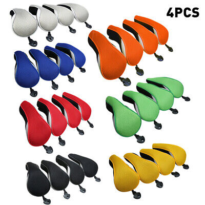 4Pcs Durable Golf Club Head Covers Replacement Driver Fairway Wood Covers