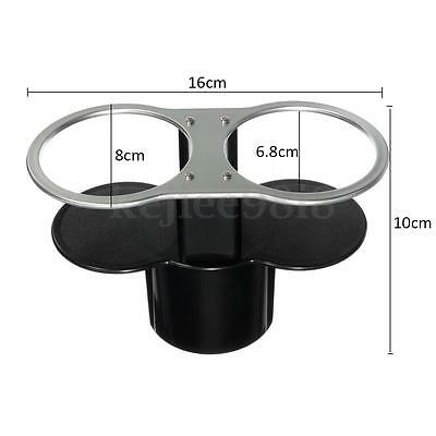 Universal Double Car Cup Drink Drinking Bottle Base Holder Dual Wedge Beverage