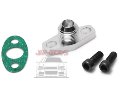 AN-10 10AN Oil Return T3/T4/T04B/T04E/Garrett Turbo Billet Flange/Bolts/Gasket