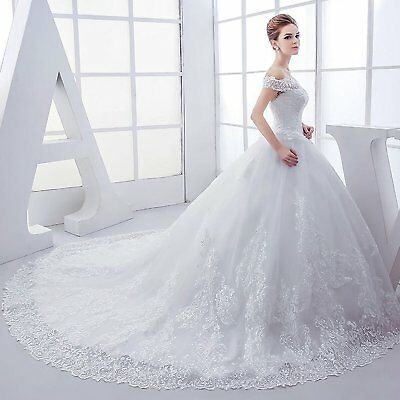 2018 New European and American bridal wedding dress with Large trailing