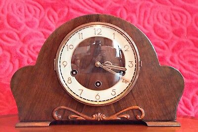 Vintage 'HAC' German 14-Day Mantel Clock with Westminster & Whittington Chimes