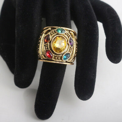 2018 THANOS Infinity Gauntlet POWER RING Avengers The Infinity War Stones 8-12 L