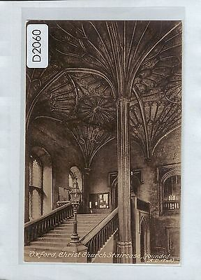 D2060cgt UK Oxford Christ Church Staircase Friths vintage postcard
