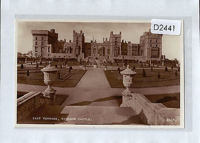 D2441cgt UK Windsor Castle East Terrace unused vintage postcard
