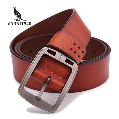 Leather Belt for Buckle,Impregnated,Hallamarked,Real Leather,Cowhide,High End