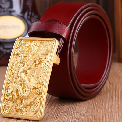 new vintage solid brass dragon belt buckle leather accessories men s golden age