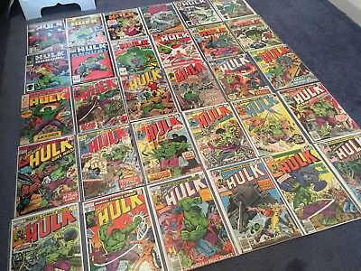 INCREDIBLE HULK Massive Lot Marvel Comics Job Lot
