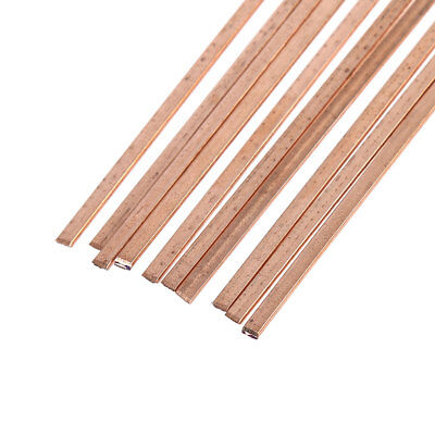 10pcs 3x1.3x400mm Low Temperature Flat Soldering Rods For Welding Brazing Repair