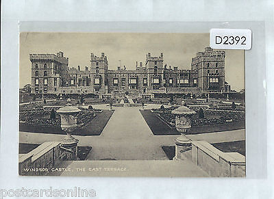 D2392cgt UK Windsor Castle East Terrace unused vintage postcard