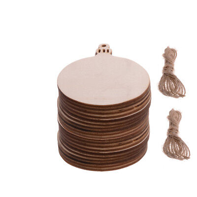 Wooden Round Baubles Christmas MDF Wood craft Shape Blanks Decorations 3/10/20PC