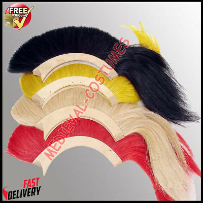 Helmet Hair Plume Brush 4 Pcs for Ancient Roman Greek Corinthian Helm 4 Color
