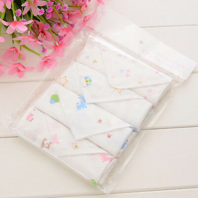 4pcs/Pack Baby Face Washers Hand Towel Cotton Wipe Wash Cloth Feeding Wipe Cloth