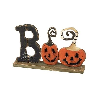 Heaven Sends Halloween Boo Home Decoration - Wooden Mantel Plaque