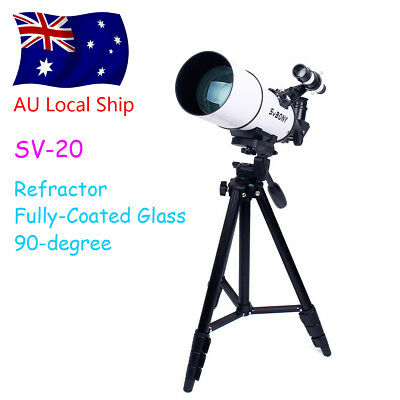 "SVBONY SV20 Refractor Telescope Fully Coated Glass Optical 49"" tripod+Adapter AU"