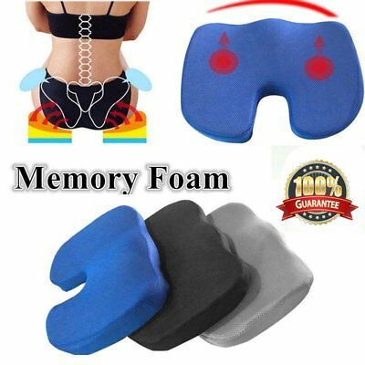 Memory Foam Coccyx Cushion Posture Back Support Seat Cushion Seat Back D*