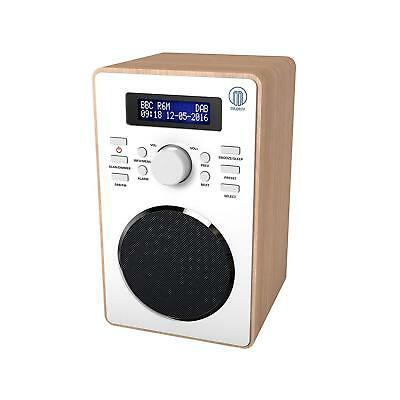 Barton II Retro DAB/DAB+ Digital FM Upright Radio/Alarm Clock/Wood Wood Effect
